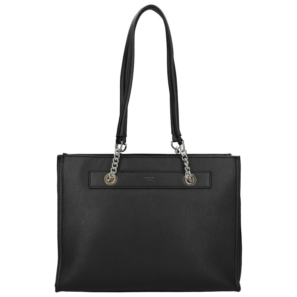 Černá velká dámská kabelka přes rameno David Jones CM5303
