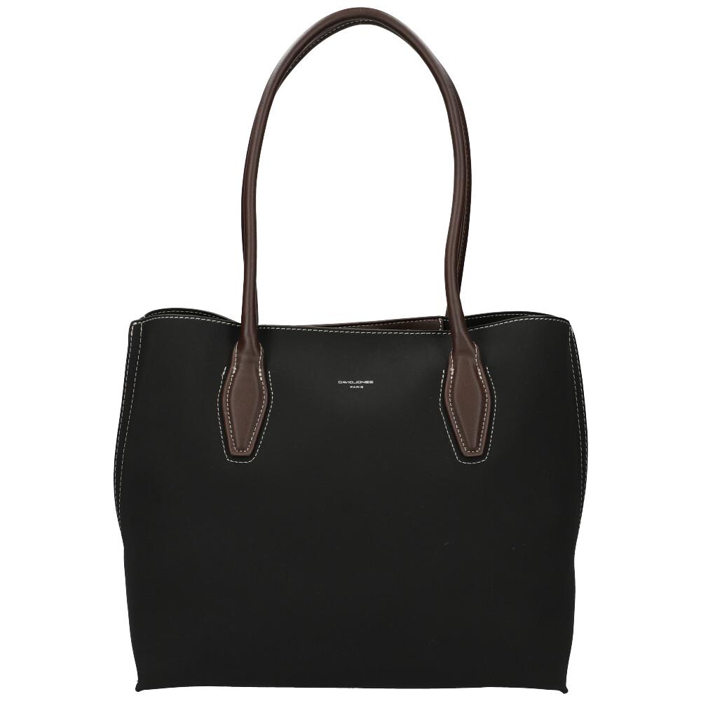 Čierna dámska kabelka cez rameno David Jones CM5327