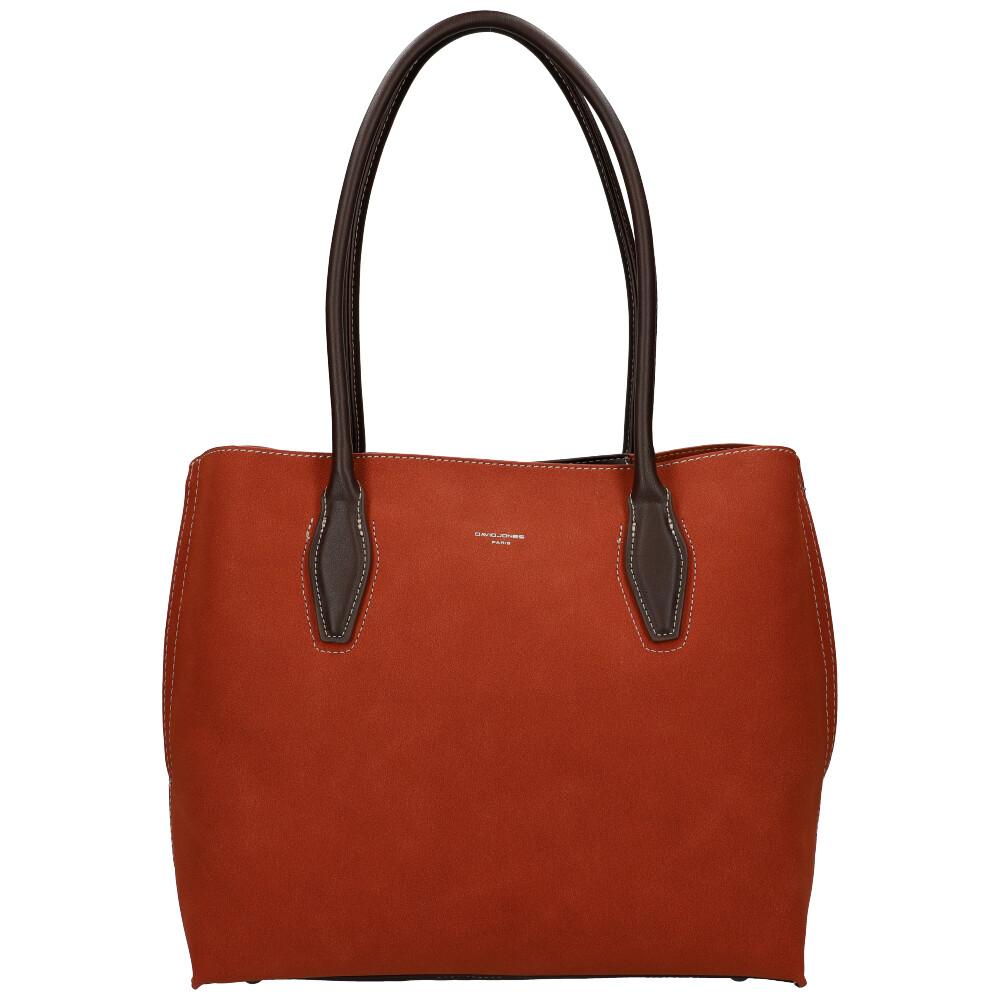 Karamelová velká dámská kabelka přes rameno David Jones CM5327
