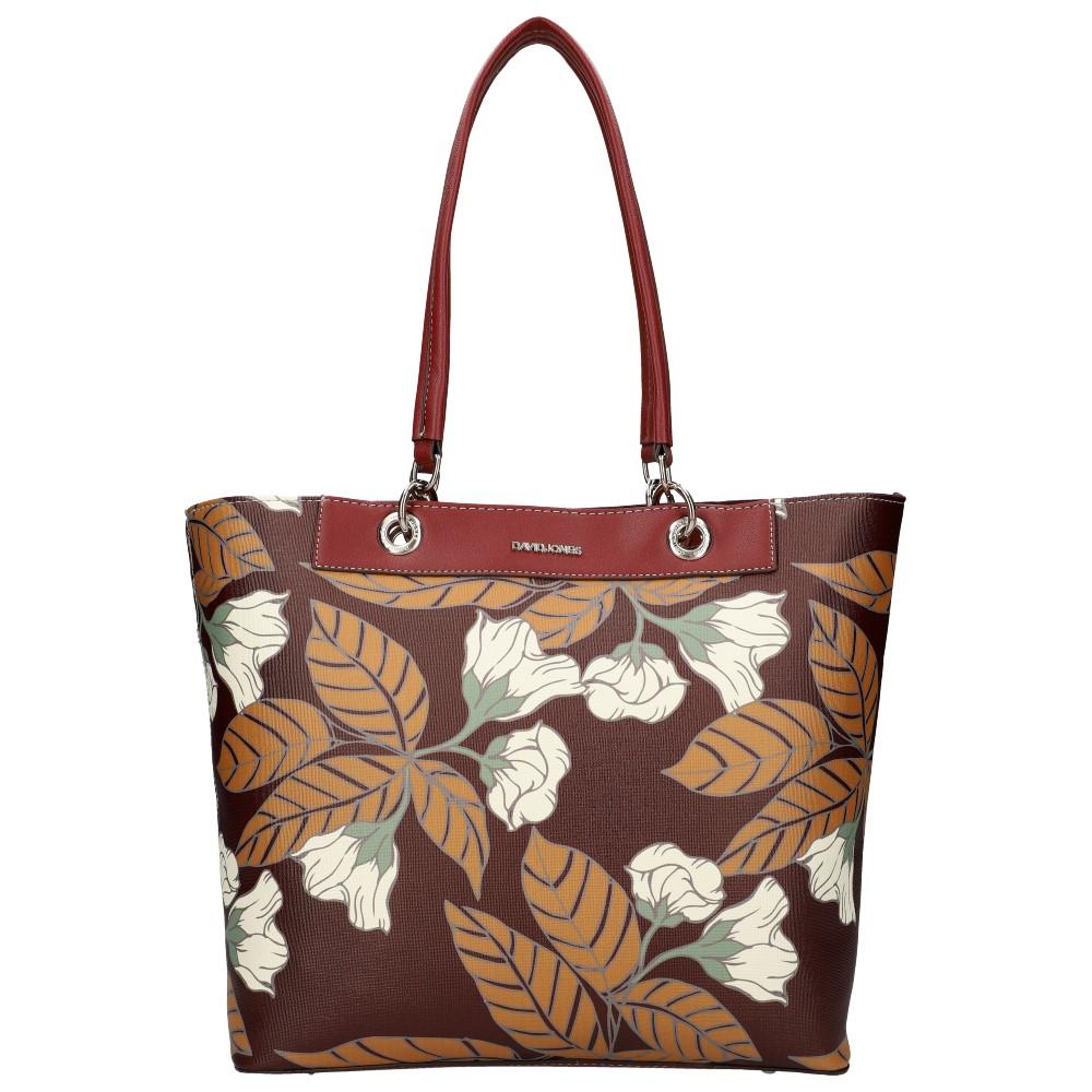 DAVID JONES Dámská kabelka přes rameno v květovaném motivu bordová