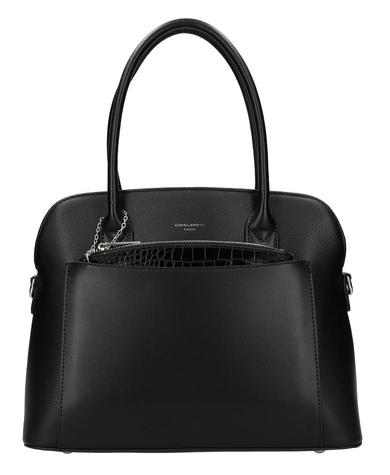 Černá moderní dámská kabelka David Jones 6105-1