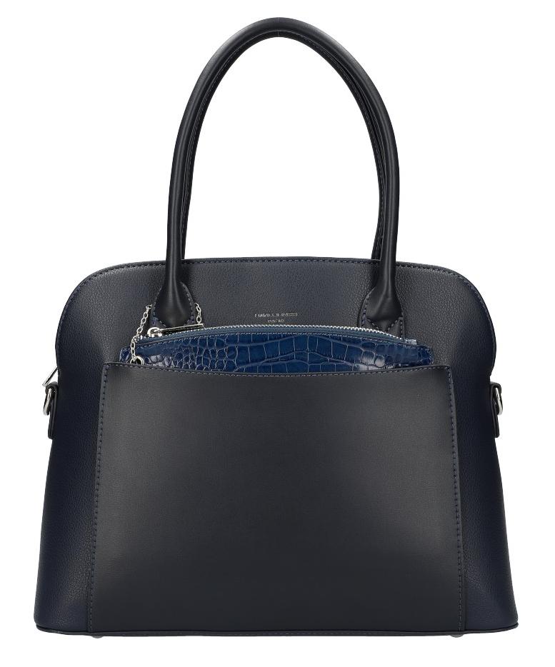 Modrá moderná dámska kabelka David Jones 6105-1
