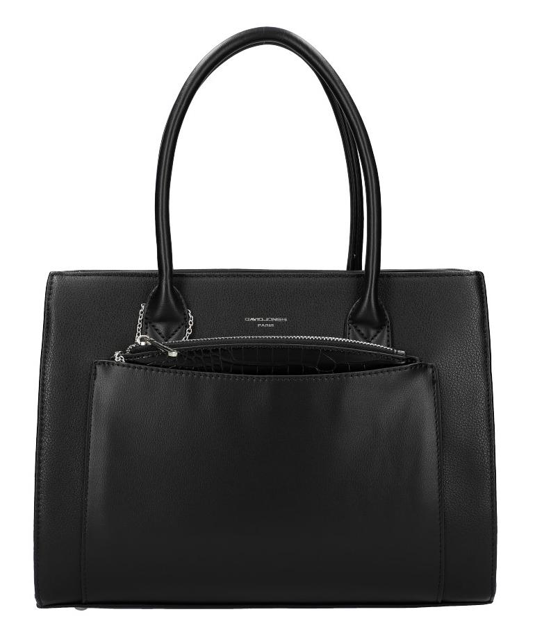 Černá moderní dámská kabelka David Jones 6105-2