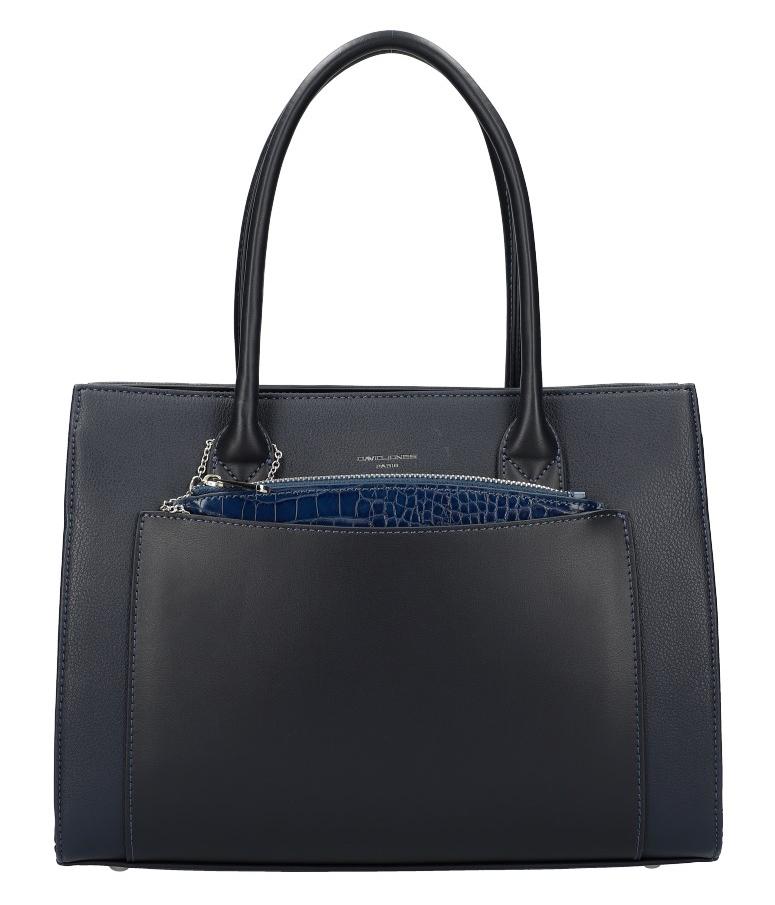 Modrá moderní dámská kabelka David Jones 6105-2