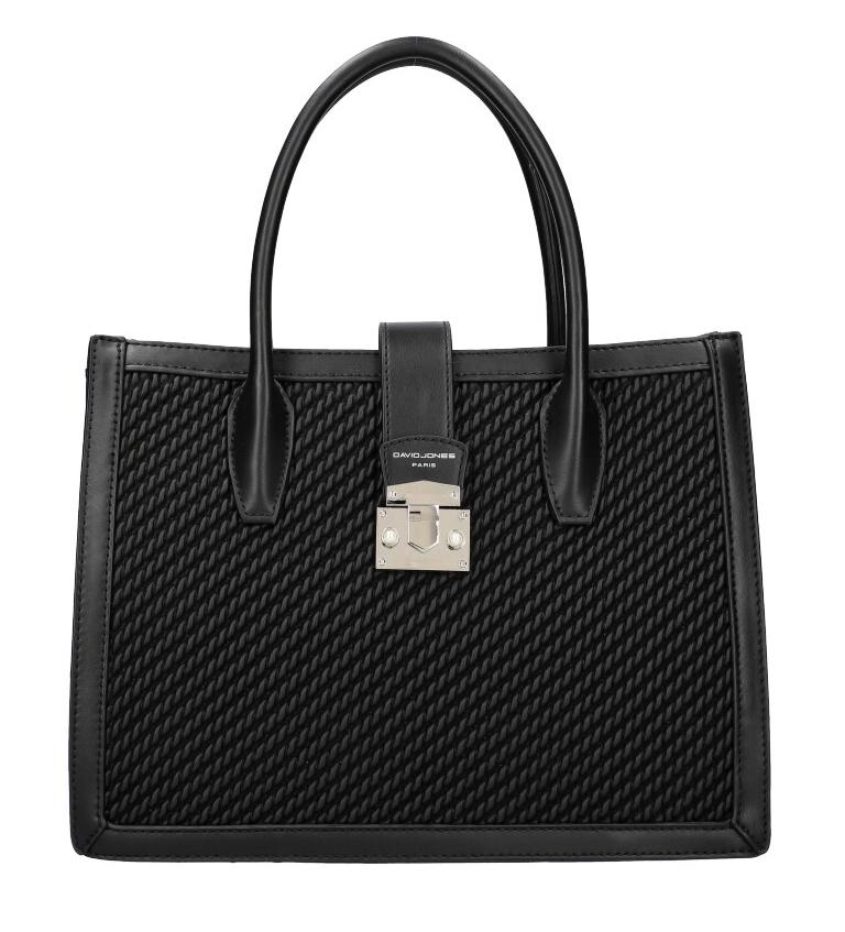DAVID JONES Čierna dámska kabelka v prepletanom dizajne 6423-3