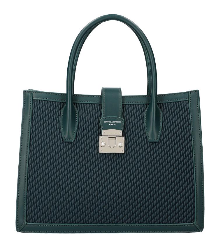 DAVID JONES Smaragdovo zelená dámska kabelka v prepletanom dizajne 6423-3