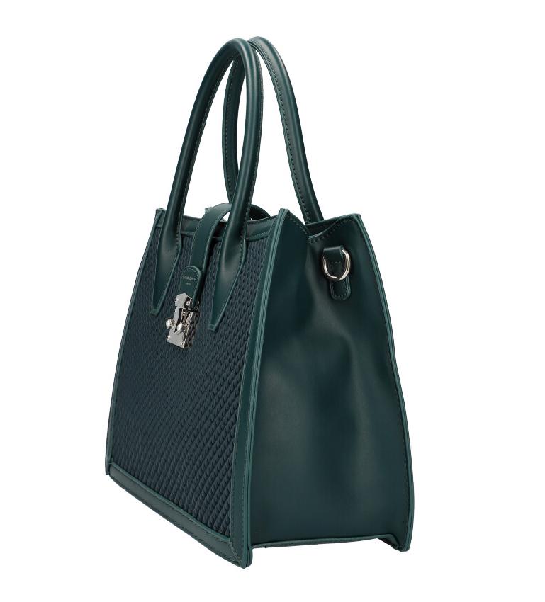 DAVID JONES Smaragdově zelená dámská kabelka v proplétaném designu 6423-3