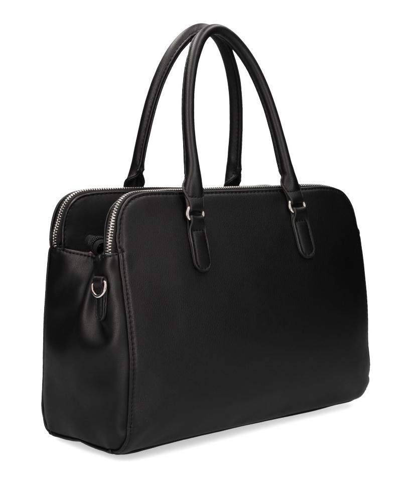 DAVID JONES Černá dámská kabelka se třemi oddíly CM3911