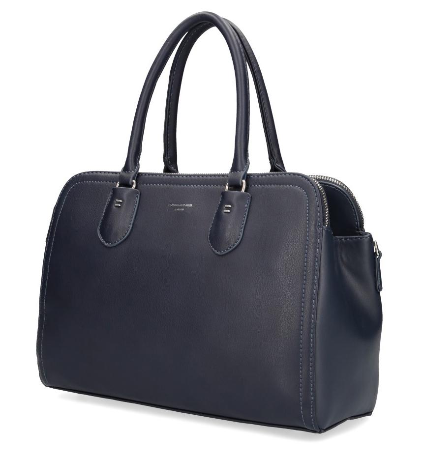 DAVID JONES Modrá dámská kabelka se třemi oddíly CM3911