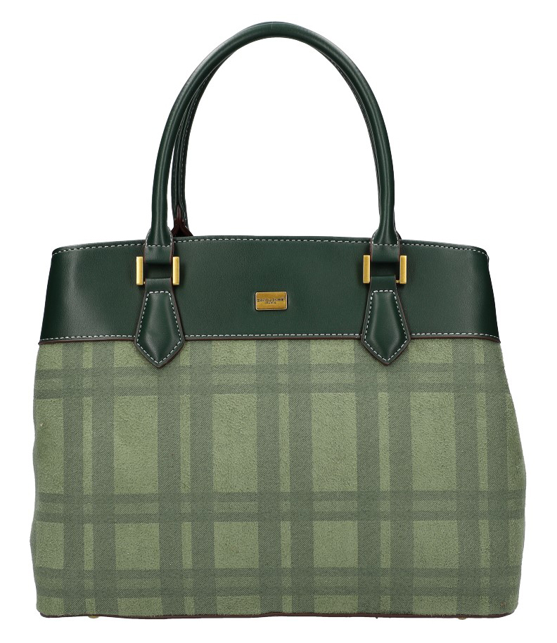 Zelená dámska kabelka do ruky David Jones CM5499