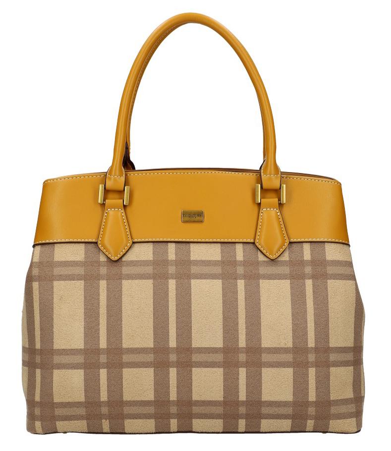 Horčicovo žltá dámska kabelka do ruky David Jones CM5499