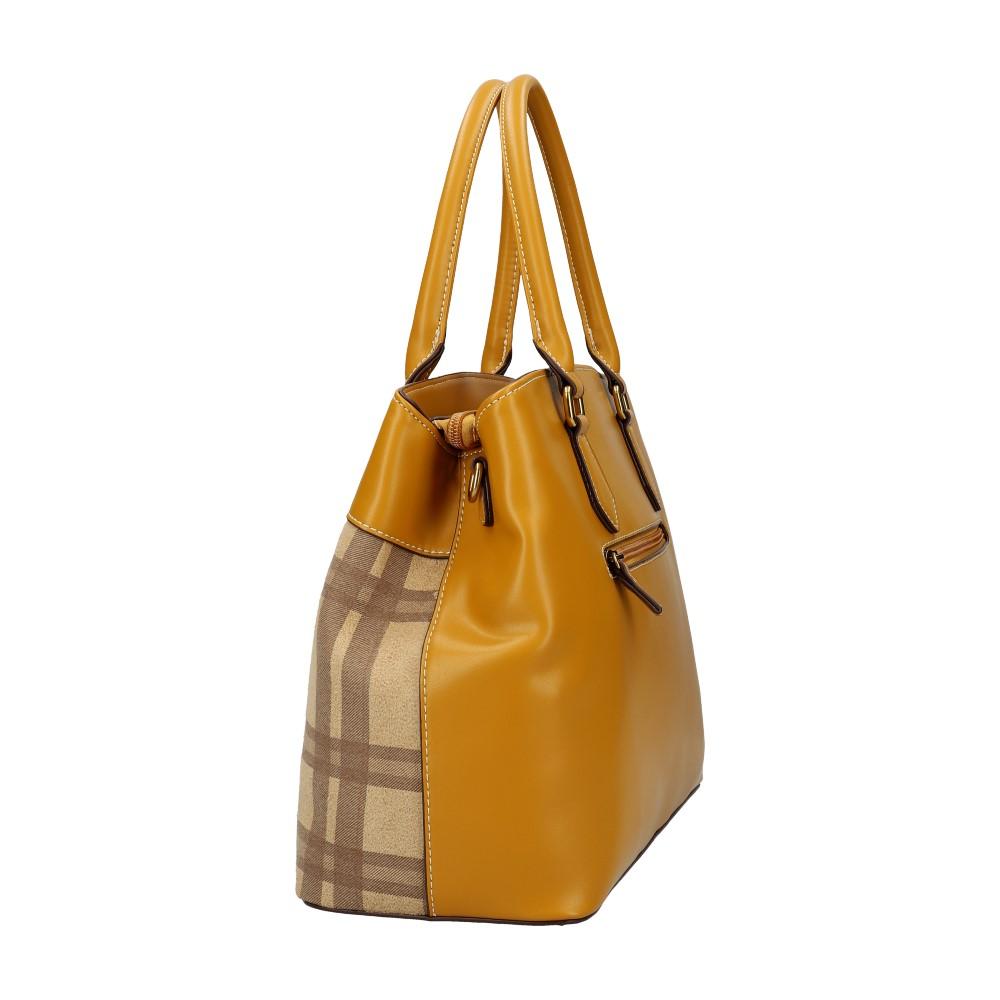 Hořčicově žlutá dámská kabelka do ruky David Jones CM5499