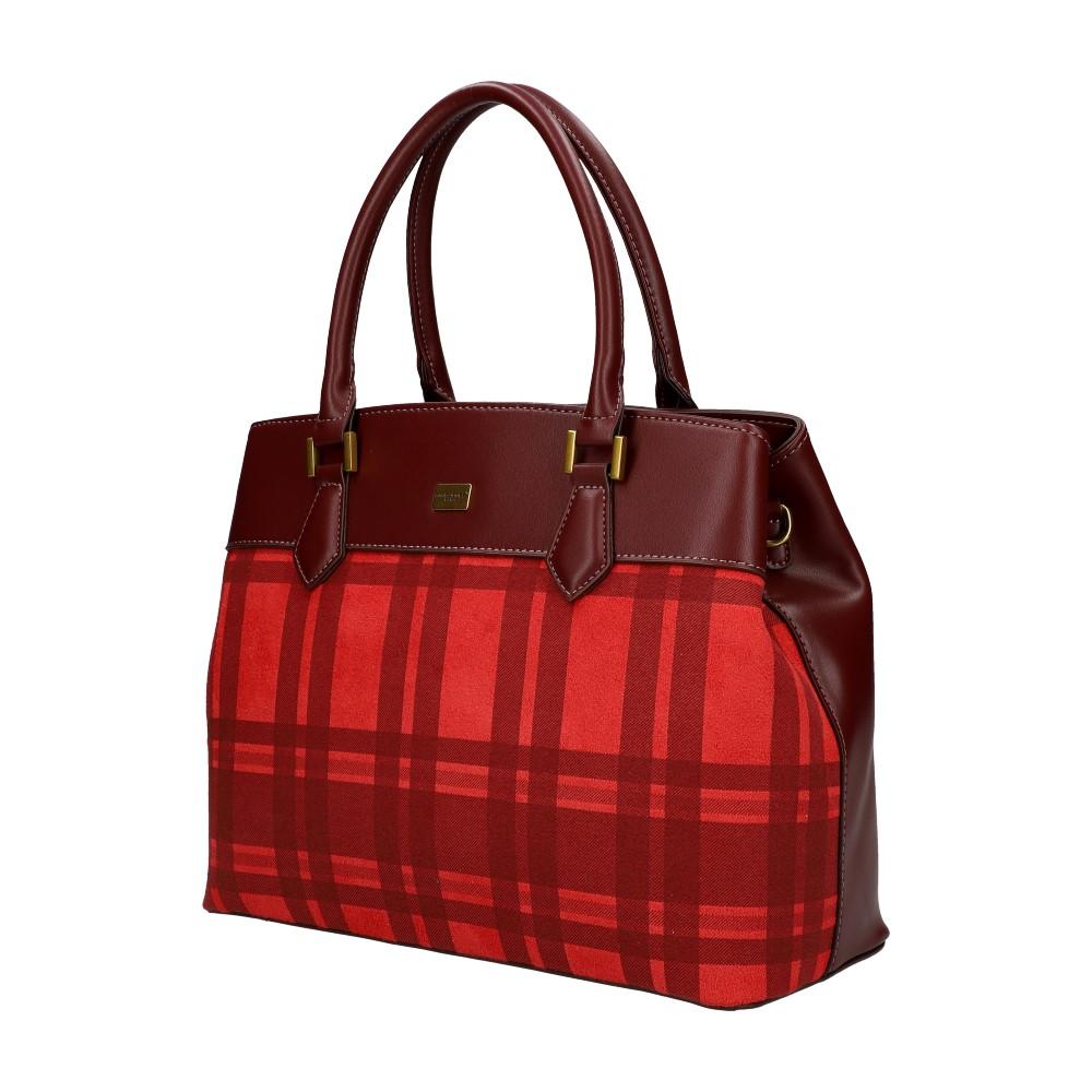 Červená dámska kabelka do ruky David Jones CM5499