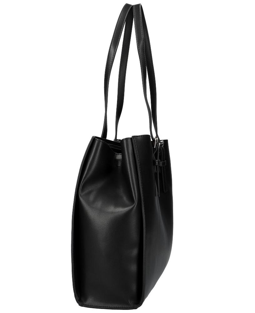 DAVID JONES Černá velká dámská kabelka přes rameno