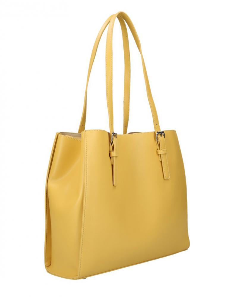 DAVID JONES Žlutá velká dámská kabelka přes rameno