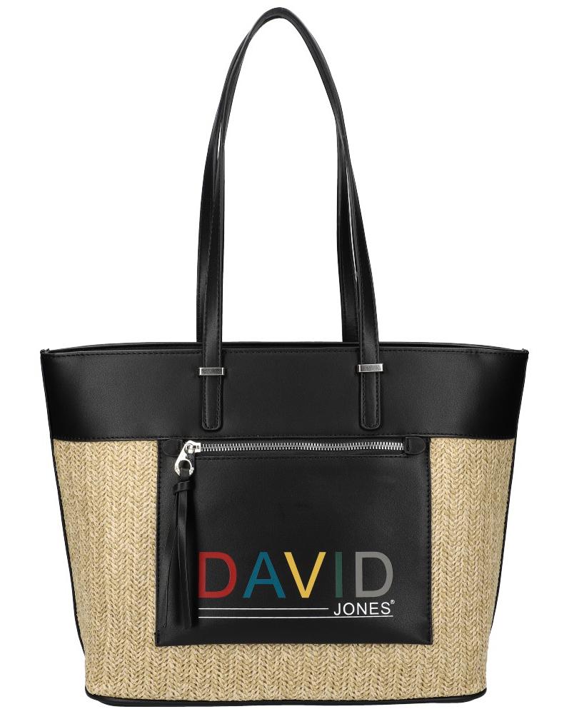 DAVID JONES Černá velká dámská kabelka přes rameno CM5741