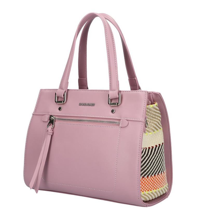DAVID JONES Originální světle fialová dámská kabelka do ruky CM5751