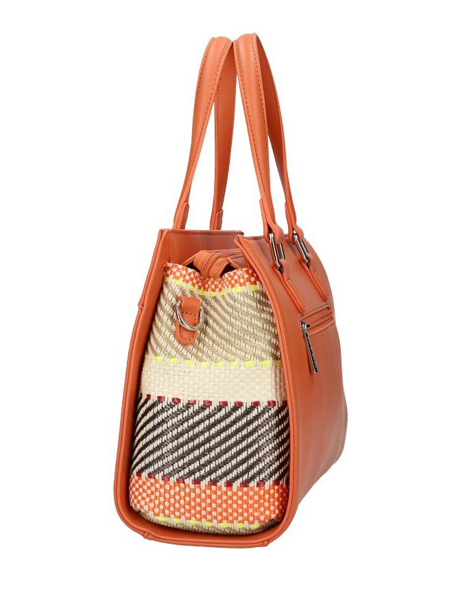 DAVID JONES Originální korálová dámská kabelka do ruky CM5751