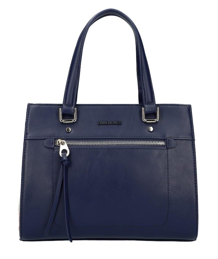 DAVID JONES Originálna tmavo modrá dámska kabelka do ruky CM5751