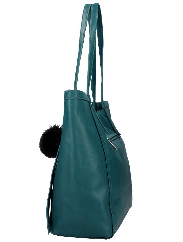 DAVID JONES Petrolejově modrá dámská kabelka přes rameno CM5856