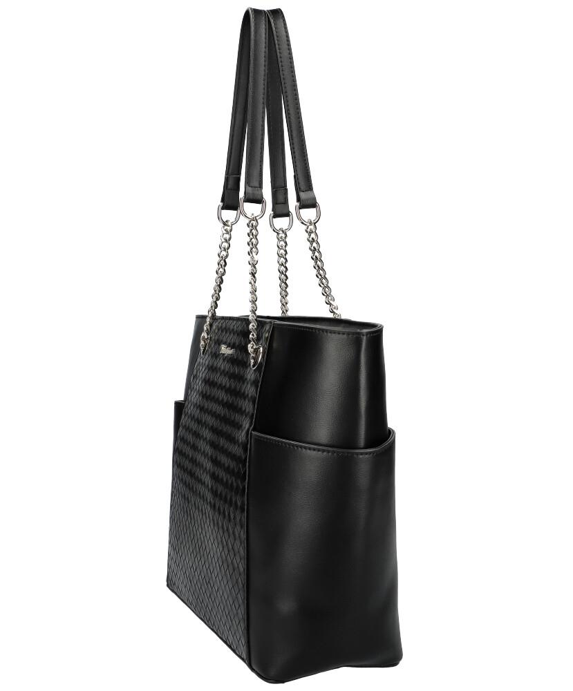 DAVID JONES Čierna dámska kabelka cez rameno CM6017