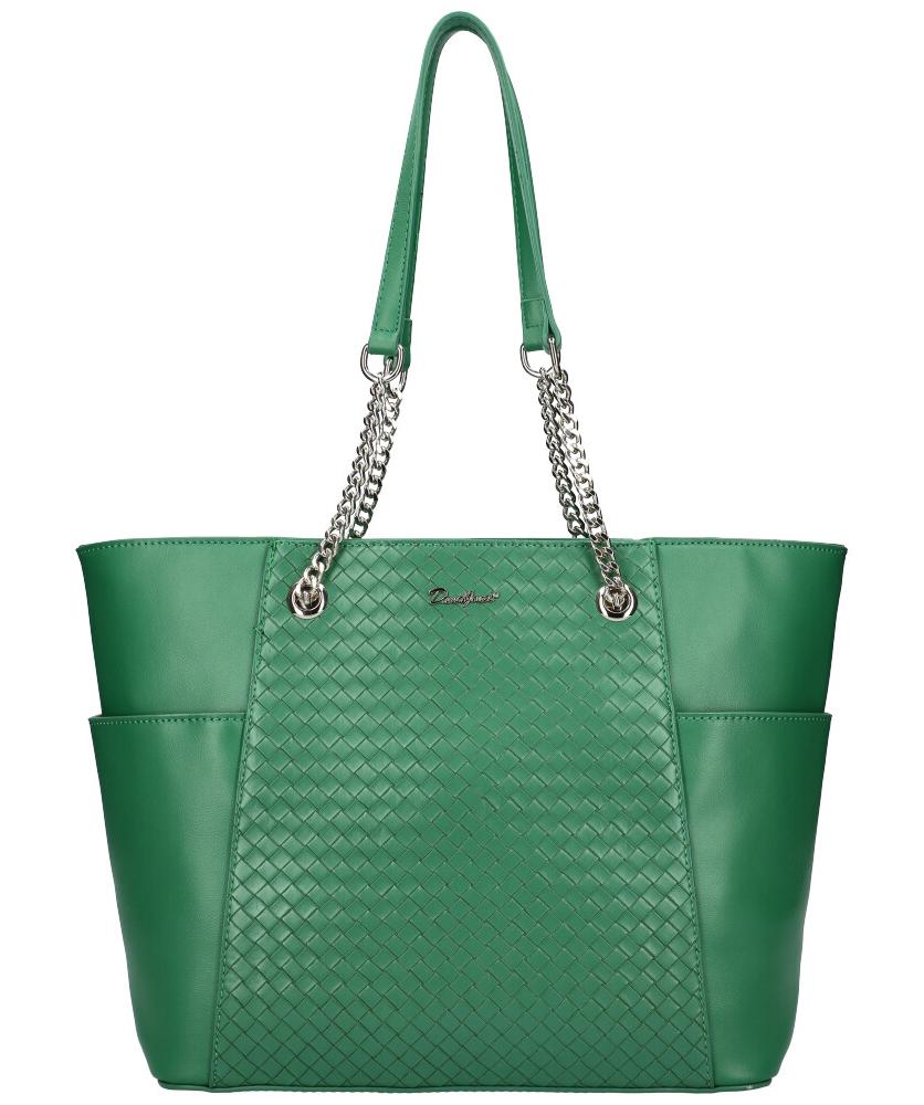 DAVID JONES Zelená dámská kabelka přes rameno CM6017