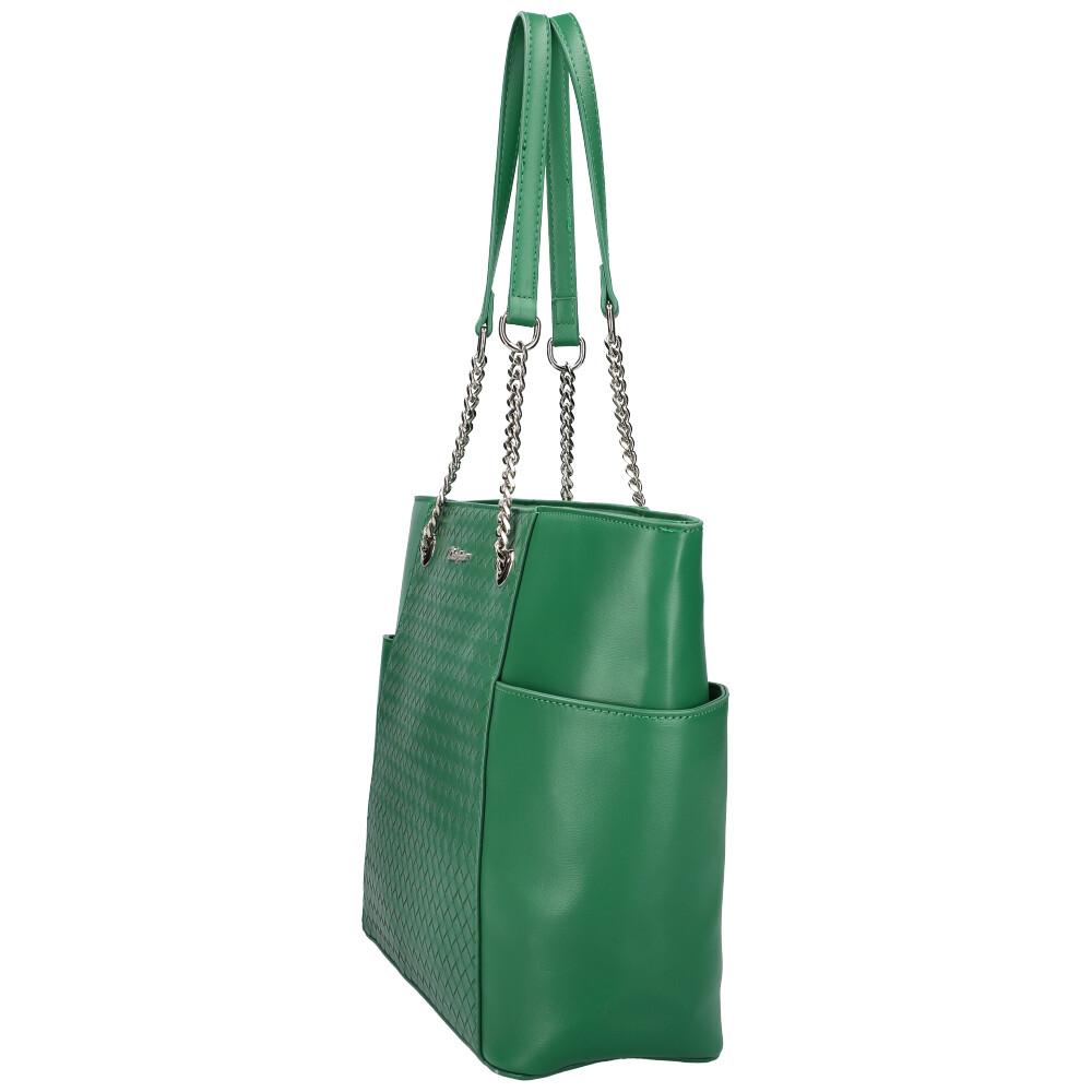 DAVID JONES Zelená dámska kabelka cez rameno CM6017