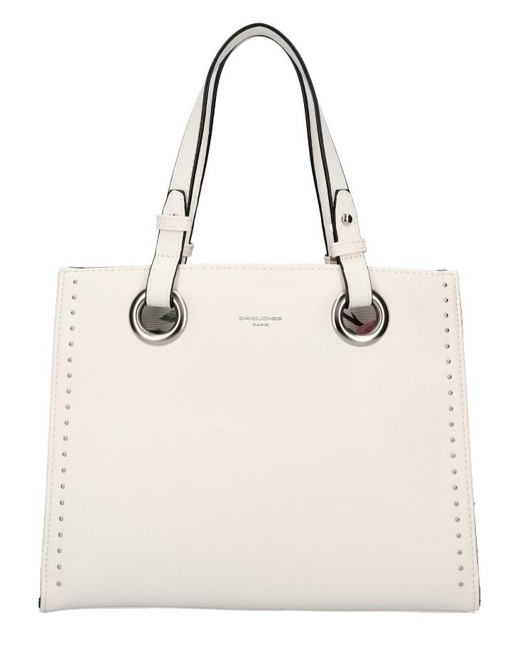 DAVID JONES Bílá dámská kabelka do ruky CM5784
