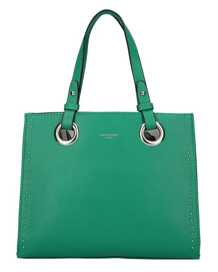 DAVID JONES Zelená dámská kabelka do ruky CM5784