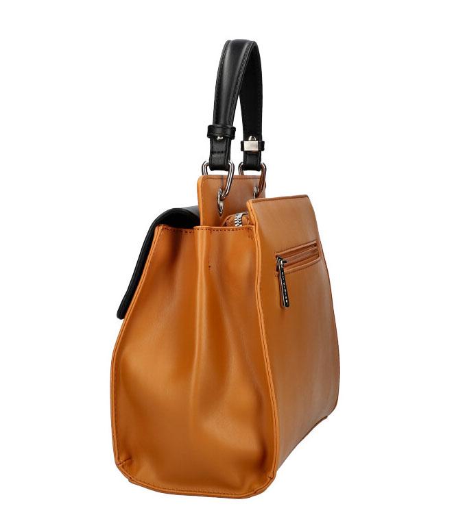 DAVID JONES Karamelová hnědá dámská kabelka do ruky CM5945