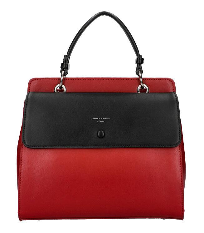 DAVID JONES Červená dámská kabelka do ruky CM5945