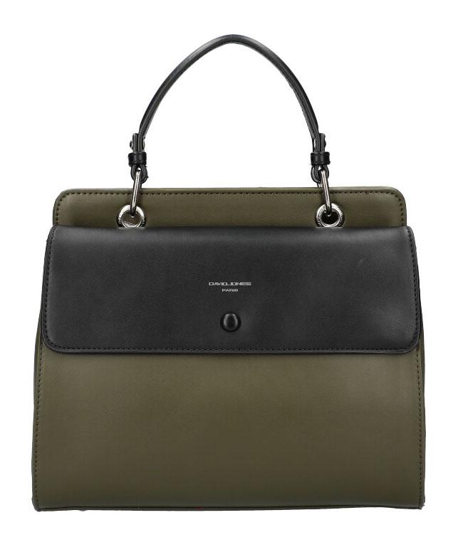 DAVID JONES Khaki zelená dámska kabelka do ruky CM5945