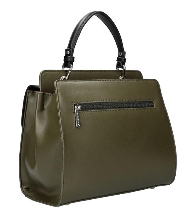 DAVID JONES Khaki zelená dámská kabelka do ruky CM5945