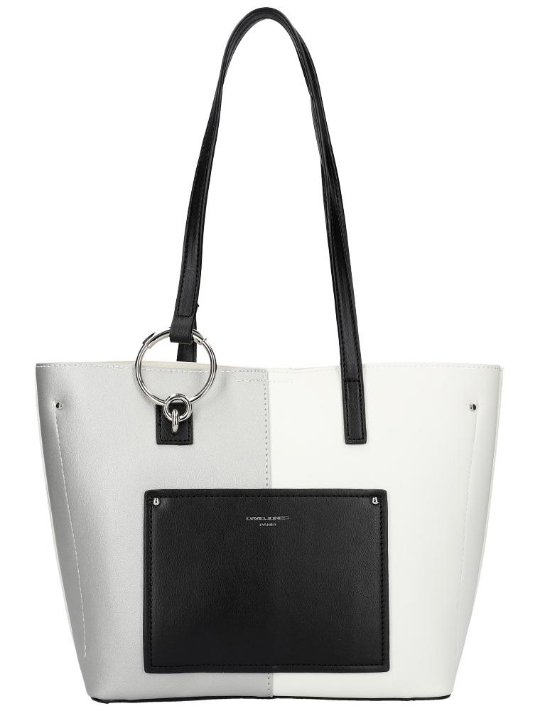 DAVID JONES Bílá dámská kabelka přes rameno 6302-2
