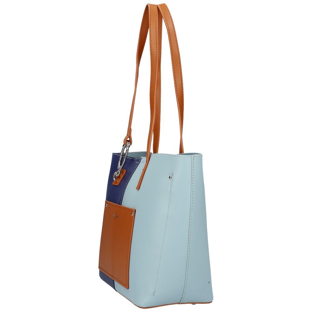 DAVID JONES Modrá dámská kabelka přes rameno 6302-2
