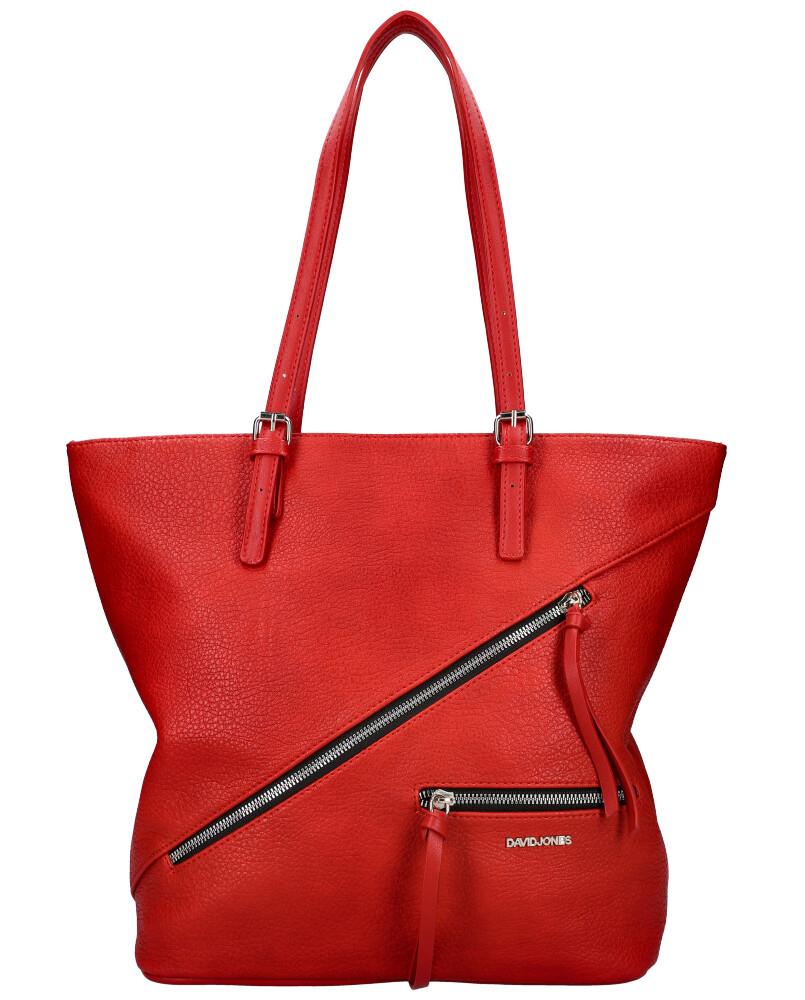 DAVID JONES Červená dámská kabelka přes rameno 6436-2