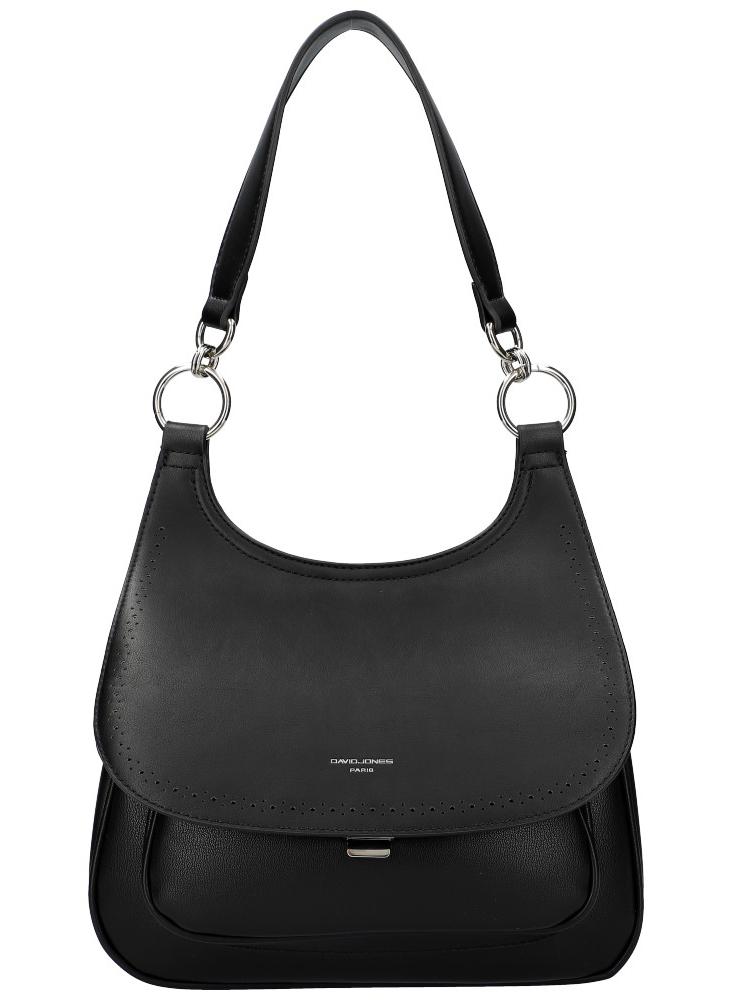 DAVID JONES Černá dámská kabelka přes rameno CM5750