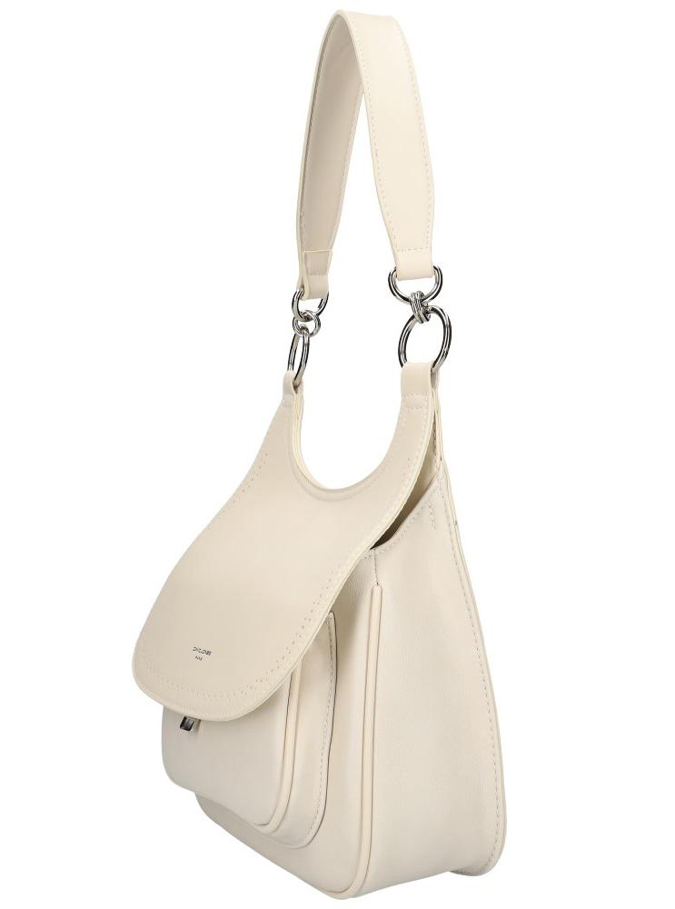 DAVID JONES Krémová dámská kabelka přes rameno CM5750