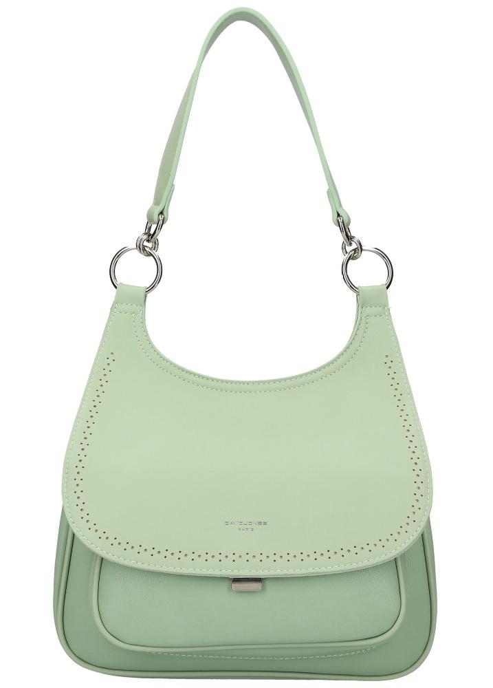 DAVID JONES Mentolově zelená dámská kabelka přes rameno CM5750