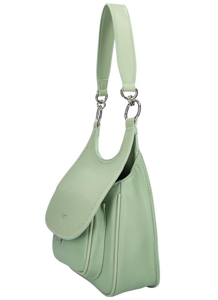 DAVID JONES Mentolovo zelená dámska kabelka cez rameno CM5750