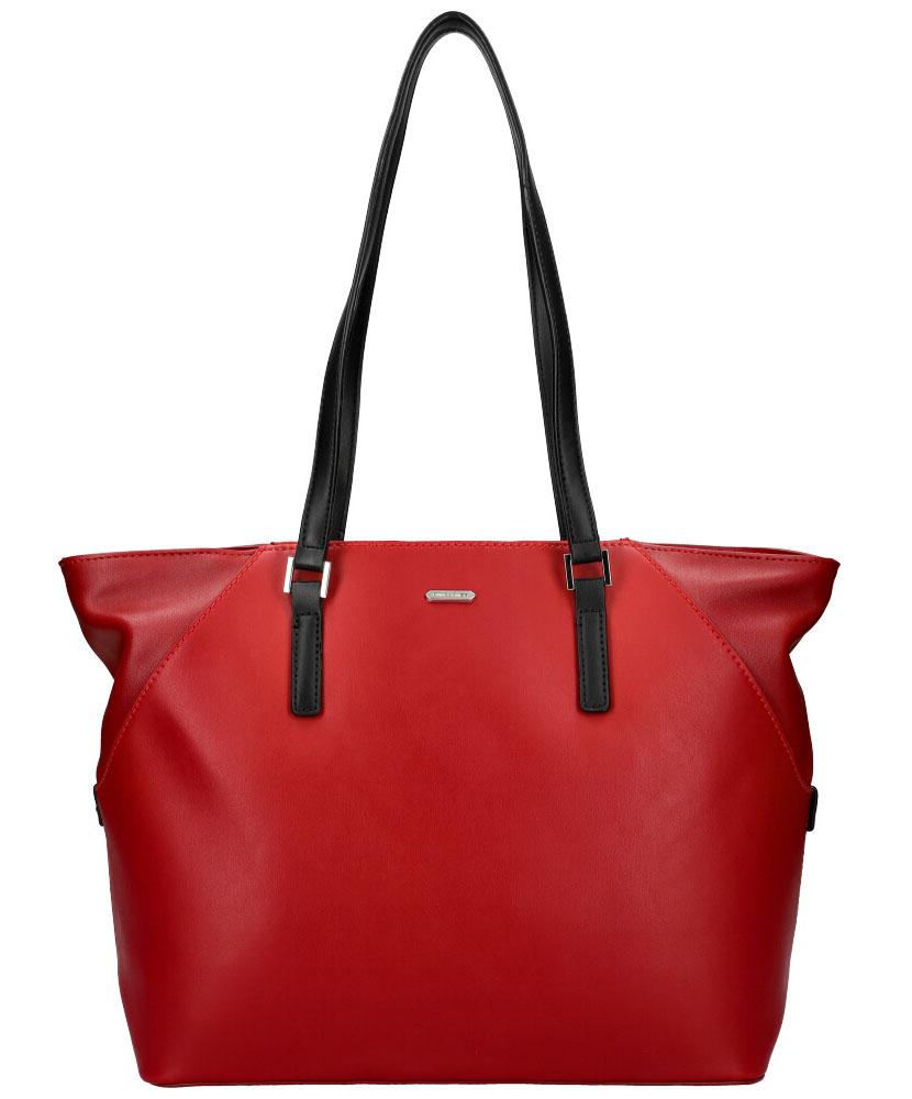 DAVID JONES Červená dámská kabelka přes rameno CM5831