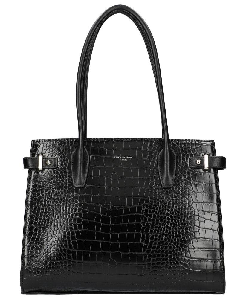 DAVID JONES Čierna dámska kabelka v krokodílom dizajne CM5846