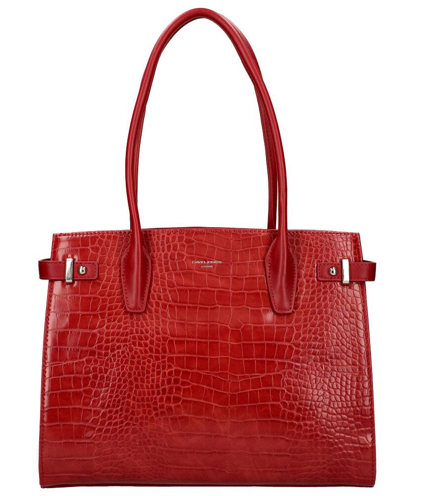 DAVID JONES Červená dámská kabelka v krokodýlím designu CM5846