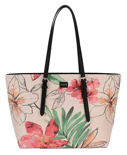 Veľká dámska kabelka s kvetmi cez rameno David Jones