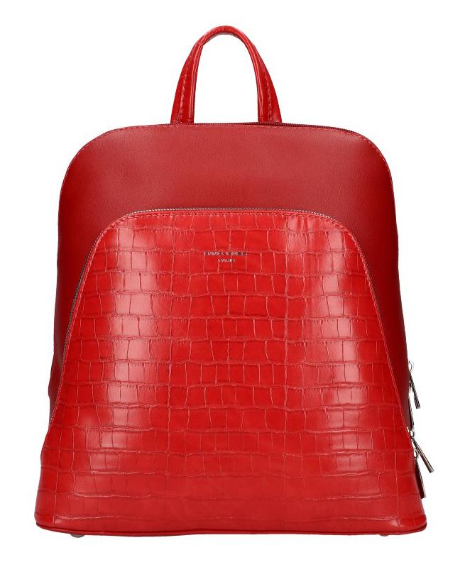 Červený dámsky módny batôžtek David Jones CM5615