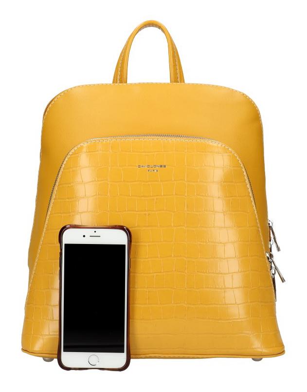 Žltý dámsky módny batôžtek David Jones CM5615