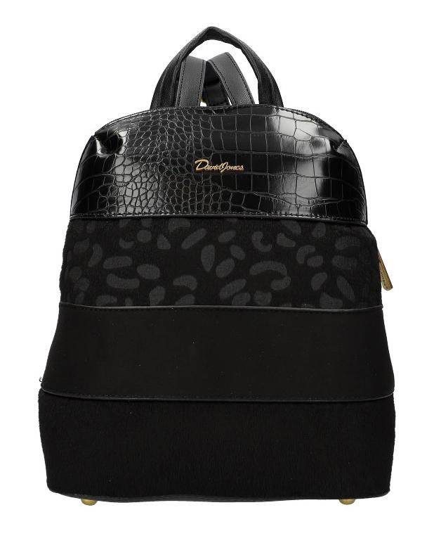 Čierny dámsky módny elegantný batôžtek David Jones 6157-2
