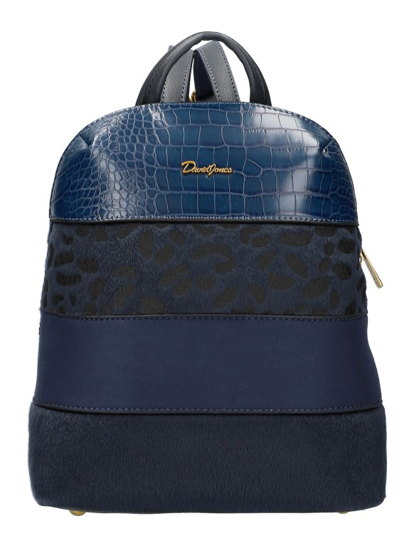 Modrý dámsky módny elegantný batôžtek David Jones 6157-2