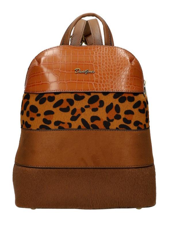 Hnedý dámsky módny elegantný batôžtek David Jones 6157-2