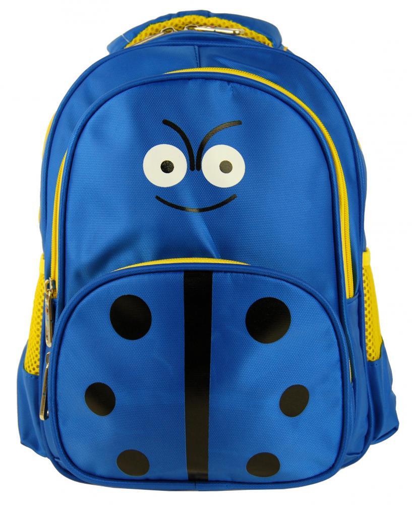 Detský batoh L12001 modro-žltá lienka